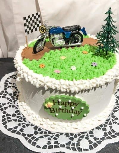 Eistorte Motorrad