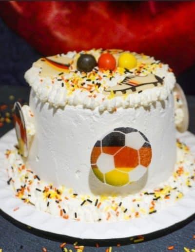 Eistorte Mini EM Fußball